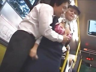 Groping large bumpers in a bus