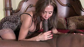 Hotwiferio lustful brunette hair wife gives darksome man a precious slow oral