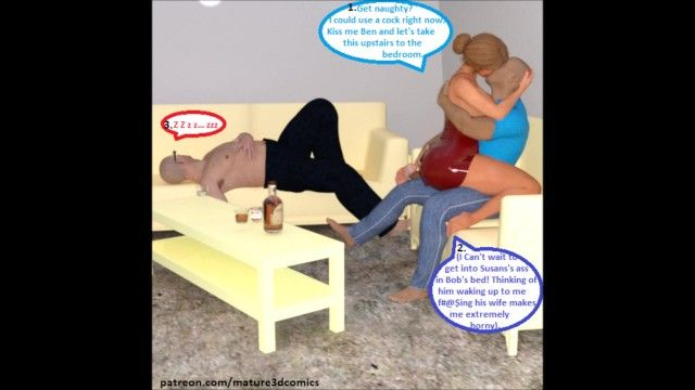 Cg comic: cuckold wife cheats on spouse with his superlatively good ally