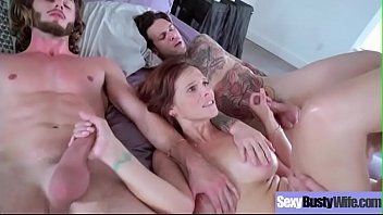 Syren de mer bigtits lustful housewife acquire group-fucked on sex tape movie-24