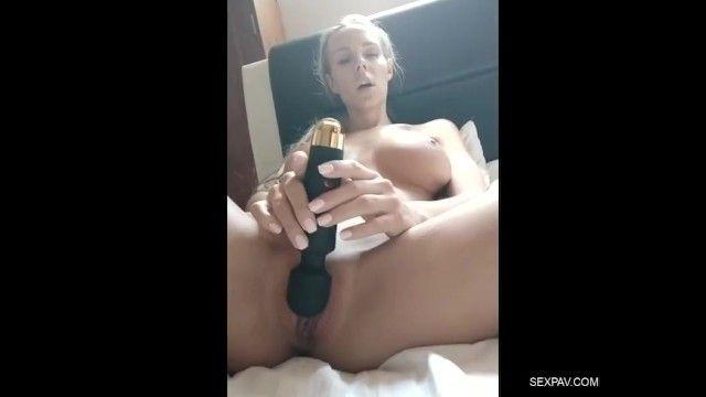 Hawt milf caught rubbing her juicy snatch using sex-toy