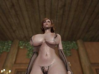 Skyrim: hawt princess mila - assolo di grandi bazooka