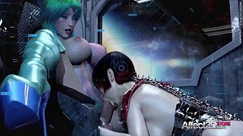 Cg animated futa sweethearts having trio in a space station