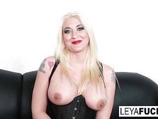 Sexy large tittie blond leya acquires her wazoo pounded