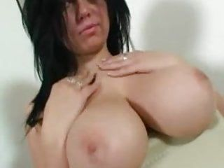 Beauty with large milk sacks solo
